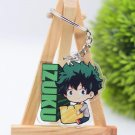 My Hero Academia Chibi Izuku Midoriya Deku Acrylic Keychain Keyring Pendant Anime Boku No Hero
