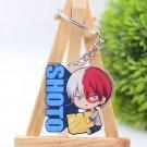 My Hero Academia Shoto Todoroki Acrylic Keychain Keyring Pendant Anime Boku No Hero