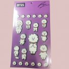 BTS Bangtan Boys BT21 RJ 3D Bubble Stickers Set Scrapbooking Stationery Kpop School Supplies