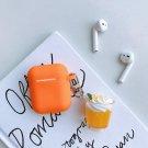 Apple Airpods Orange Ice Cream Fruit Cover Bluetooth Wireless Earphone Japanese Korean Cover Kawaii