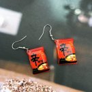 Handmade Ramen Instant Noodles Drop Earrings Kawaii Cute Japanese Food
