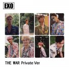 Exo 8PC The War Private Version Photocards Lomo Cards Prints Kpop Photo Cards