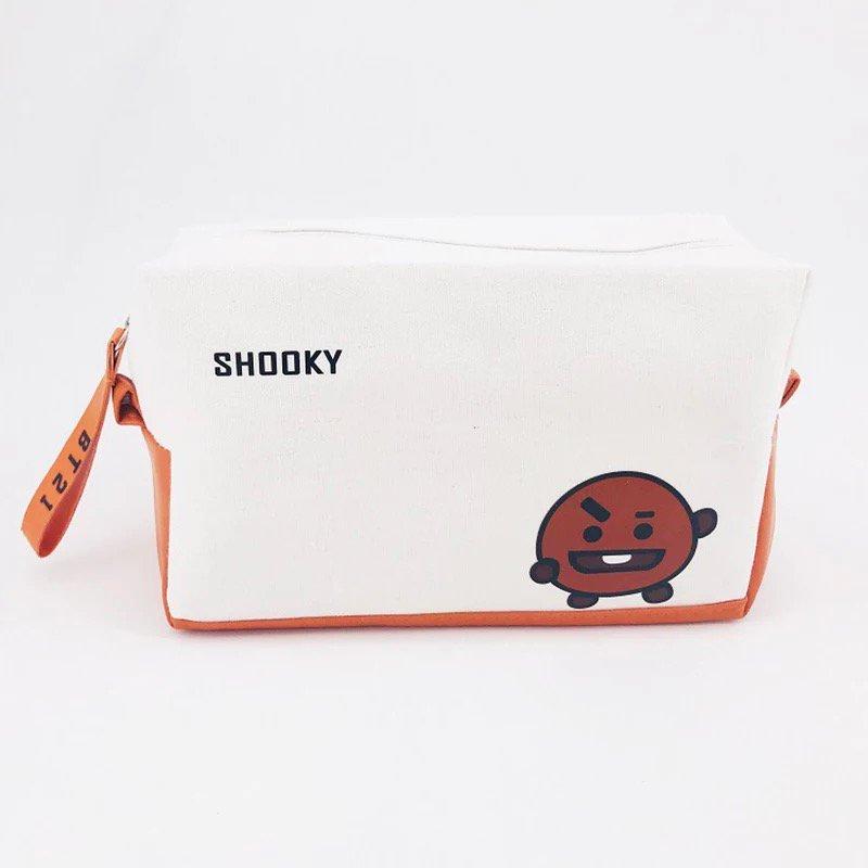 BTS Bangtan Boys BT21 Spooky Pencil Case Stationery Pouch Bag School Supplies Kpop Canvas
