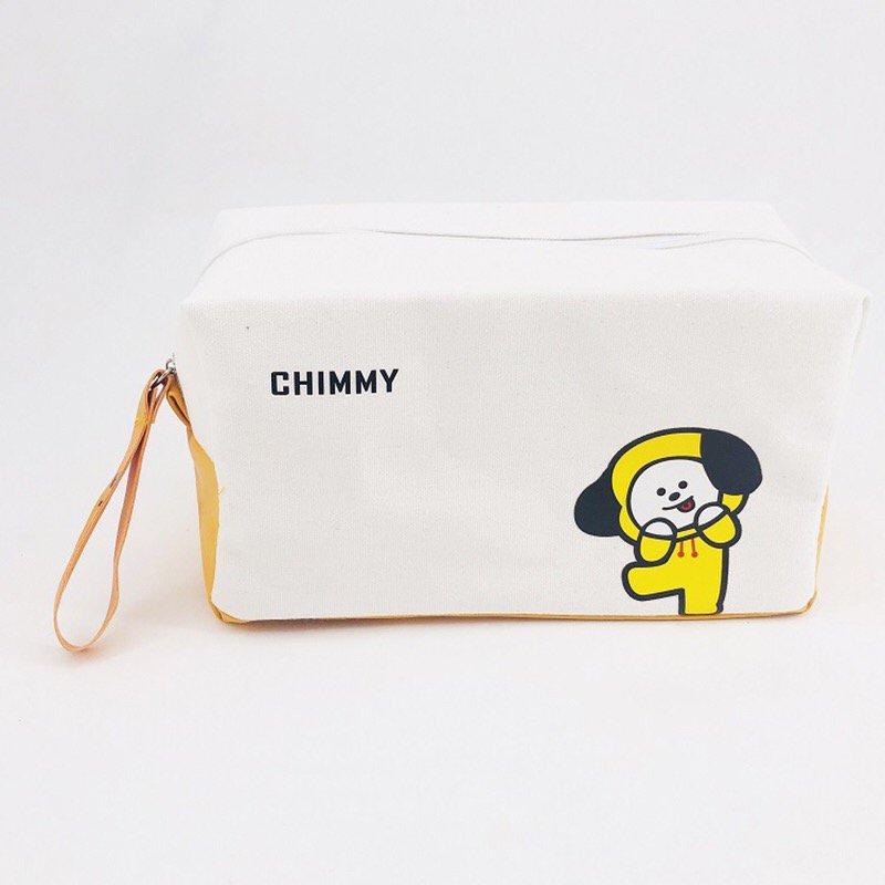 BTS Bangtan Boys BT21 Chimmy Pencil Case Stationery Pouch Bag School Supplies Kpop Canvas