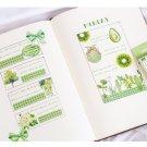 50Pcs Cute Japanese Green Fruit Stationery Stickers Kawaii Paper Kids DIY Scrapbooking Diary