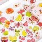 50Pcs Cute Japanese Fruit Summer Stationery Stickers Kawaii Paper Kids DIY Scrapbooking Diary