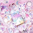 45Pcs Cute Unicorn Magical Pretty Stationery Stickers Kawaii Paper Kids DIY Scrapbooking Diary