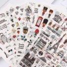 6 pcs/pack Paris London Travel Sticker Decoration Scrapbooking Label Kawaii Korean Stationery
