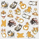 Kawaii Cute Dog Corgi Decorative Stickers Sanrio Japanese Cute DIY Scrapbooking Diary Album Label