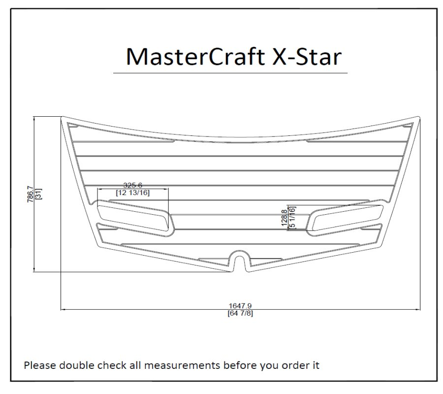"2004 MasterCraft X-STAR Boat Swim Platform Pad 1/4"" 6mm EVA Decking"