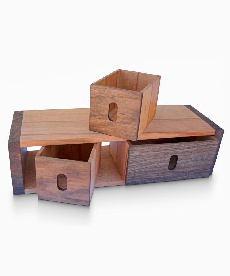 3 Cabinet Storage Box - WOODSAKA