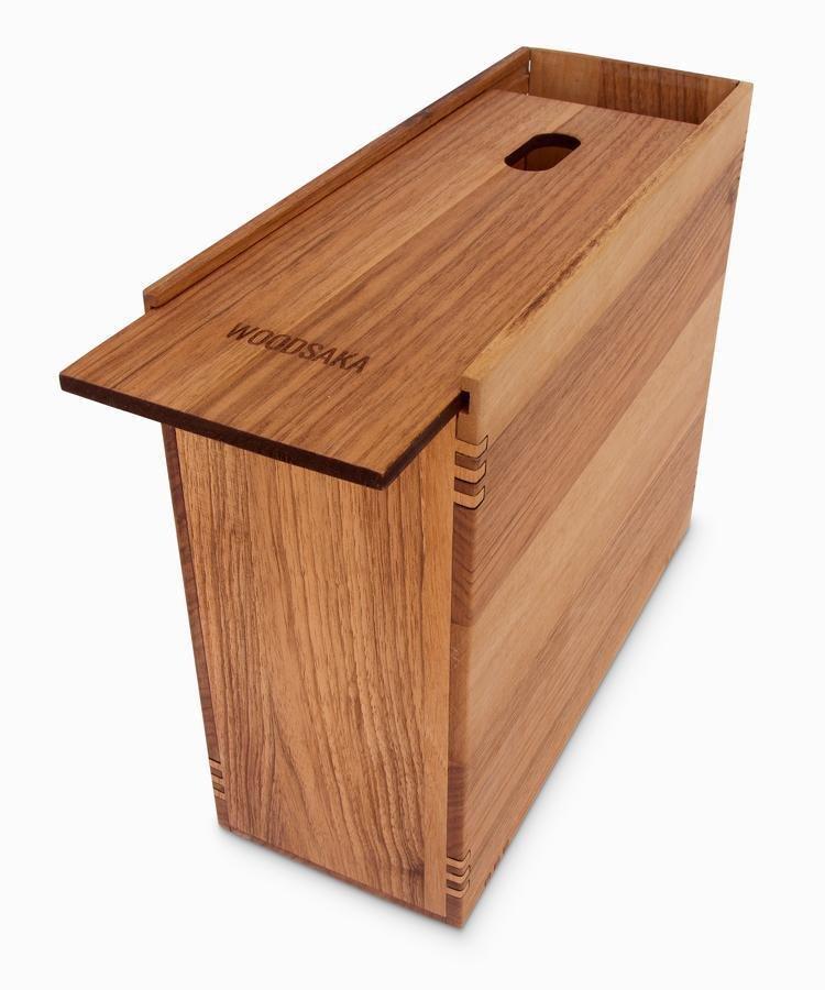 Reka - Desk Organizer - Monitor Stand - Modem Box - Small - WOODSAKA