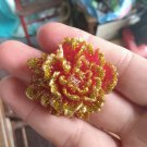 Red/Gold rose pendant