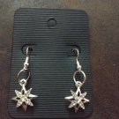 North Star Diamond Christmas Dangle Earrings