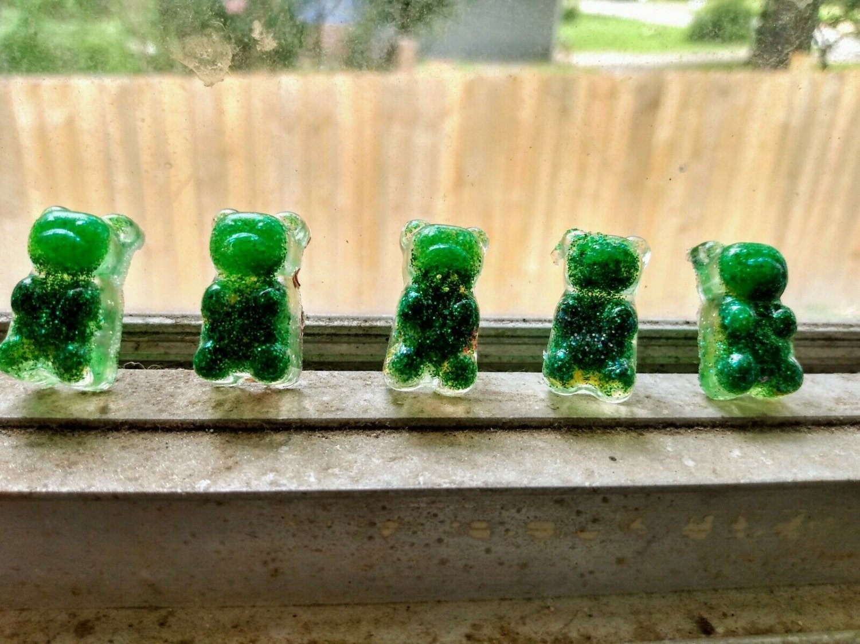 St. Patrick's day Gummy Bear Keychain Gummibar Keyholder Accessories