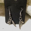 Metal Indian Feather Dangle Earrings