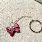 Fashion Jewelry Keychain Key Chain Crystal Butterfly