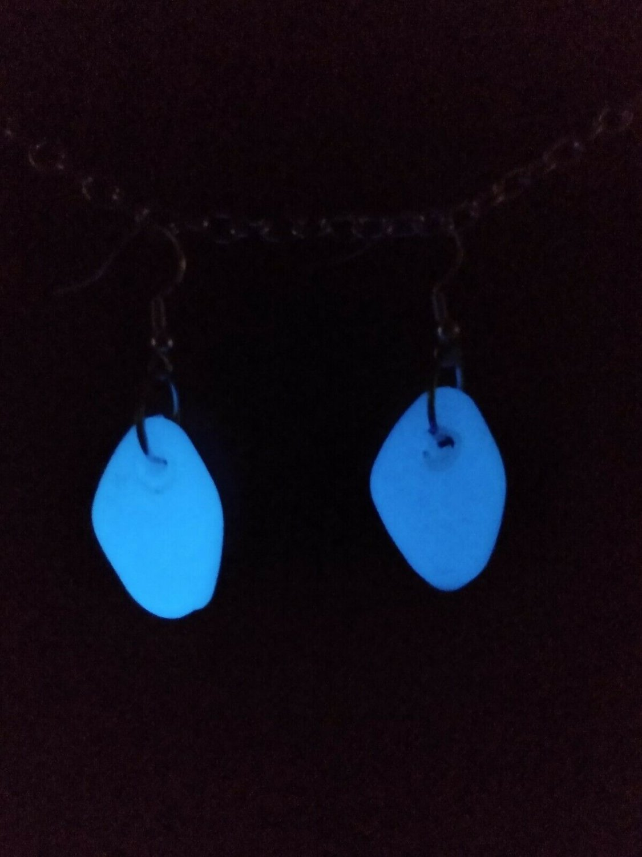 Glow In The Dark Stone Earrings