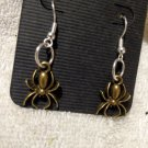 SALE! Gothic Spider Dangle Earrings with Silver Finish Pewter