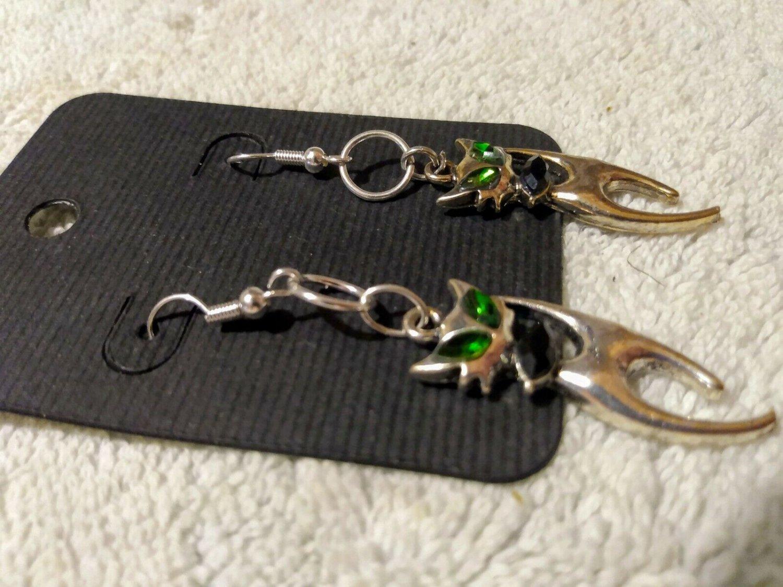 Halloween Earrings Set Dangle Jewelry Black Cat