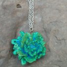 Rose Flower Pendant Necklace handmade fashion jewelery