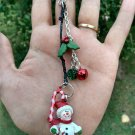Christmas Snowman Holiday Keychain