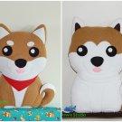 Shiba Inu Akita Inu Fleece Soft Toy Pillow Dog Plush Handmade Birthday Gift Nursery Decor