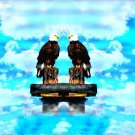 Two Bald Eagles Above The Clouds Item 002, 20 x 30 Print