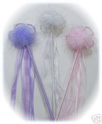 Beaded flower wand