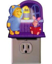 Telemania 026278 Pooh and Piglet Talking Nite Lite