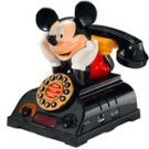 Telemania Mickey Mouse Talking Alarm Clock Radio Telephone (025578) Phone