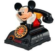 Telemania Mickey Mouse Talking Alarm Clock Radio Telephone (025578) Phone