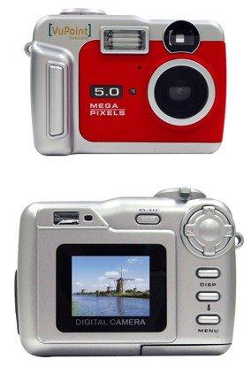 Vu Point Digital camera point and shoot 5.0 Mpix 8 Mpix (interpolated) MMC, SD