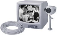 """REAL TIME 4 CHANNEL OBSERVATION SYSTEM 12"""" B/W MONITOR WITH ONE CCD CAMERA AND 60 FT. CABLE"""