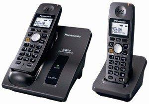 PANASONIC KX-TG6022B 5.8 GHZ DUAL HANDSET EXPANDABLE TELEPHONE SYSTEM