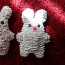 Soft neutral cream color and uniquely designed stuffy bunny: pink nose