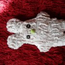 Soft neutral cream color and uniquely designed stuffy bunny: green nose