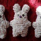 Soft neutral cream color and uniquely designed stuffy bunny: purple nose