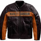 Men's Real Black Genuine Leather Biker Jacket Harley Davidson Motorcycle