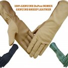 NOMEX DuPont LEATHER TACTICAL MILITARY PILOT FLIGHT FLYERS FIRE HEAT RESISTANT GLOVES