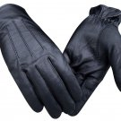 REAL GENUINE LEATHER DRIVING FASHION POLICE DRESS GLOVES BLACK SOFT TOP QUALITY