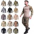 Hunting Base Layers ID36 17 Colors Men Combat Shirt Military Army Shirts Outdoor Tactical T-shirt Ca