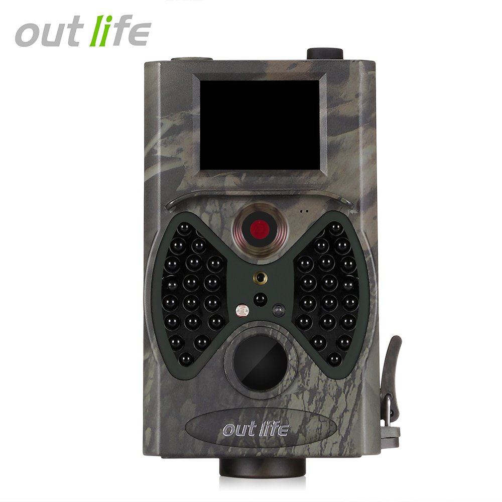 Hunting Cameras ID38 Outlife HC - 300A Hunting Camera HD 1080P 12 MP IR LEDs Video Scouting Infrared