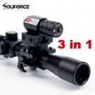 Hunting RifleScope ID24 4x20 Rifle Optics Scope Tactical Crossbow Riflescope with Red Dot Laser Sigh