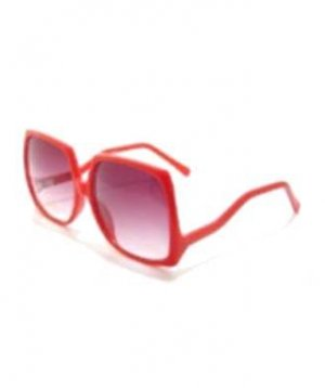 Vintage Red Oversized Big Square Sunglasses Similar to those worn by Nicole Richie.