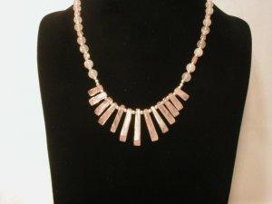 Rose Quartz  Bib Necklace