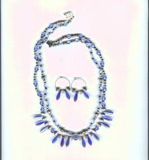Blue & Sliver Necklace