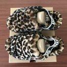 Leopard Size US4=Eur35 Copy Women Furry Slippers Australia Fluff Yeah Slides Fur Slides Slippers