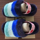 Purple Size US9=Eur40 Copy Women Furry Slippers Australia Fluff Yeah Slides Fur Slides Slippers