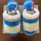 Light Blue Size US4=Eur35 Copy Women Furry Slippers Australia Fluff Yeah Slides Fur Slides Slippers